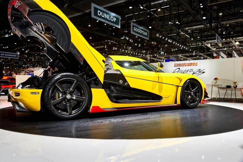 Yellow Koenigsegg Agera RS