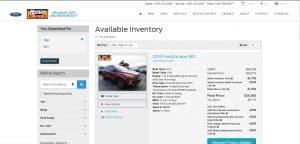 Rush Truck Center website