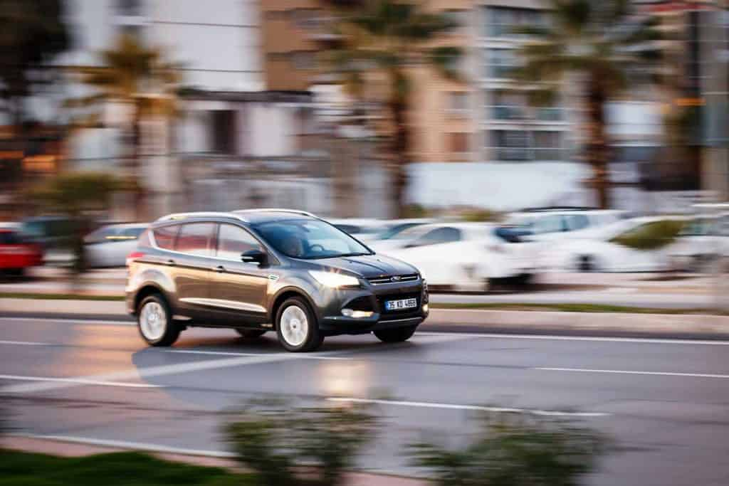 Ford Kuga cruising on the street, Ford Escape on the street