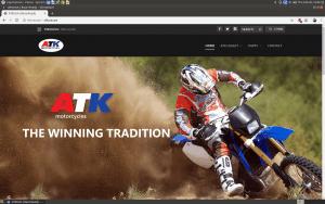 ATK website homepage