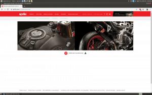 Aprilia website homepage