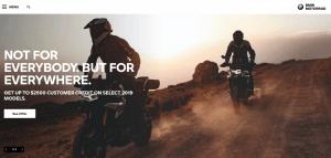 BMW website homepage