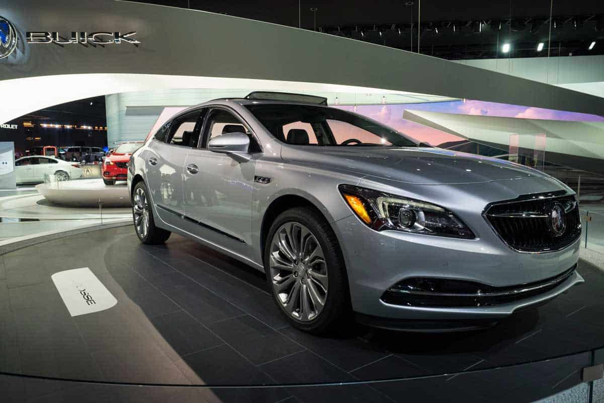 Buick Lacrosse on display during the North American International Auto Show at the Cobo