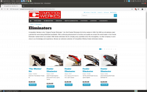Competition Werkes website product page