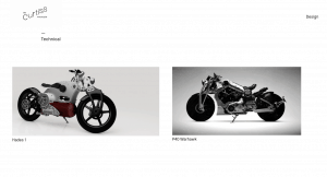 Curtiss Motorcycles website product page