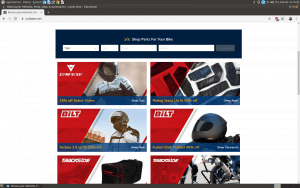 Cycle Gear website motorcycle gear page