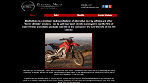 Electric Moto Corporation website product page