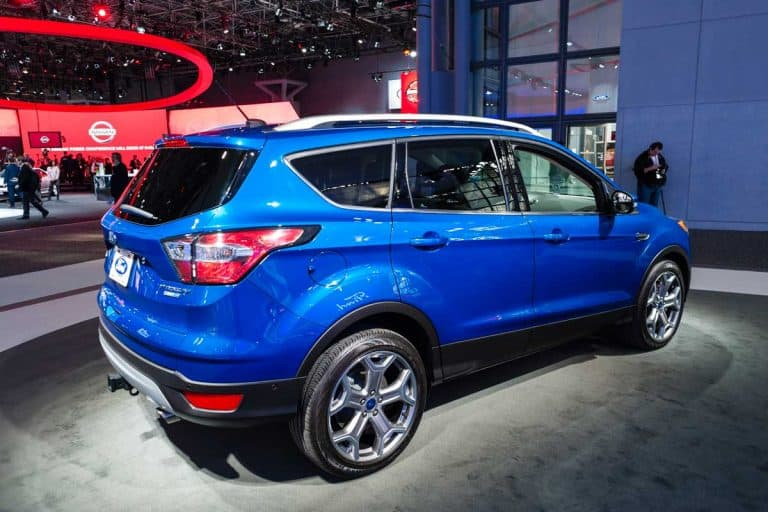 Ford Escape Titanium on display during the New York International Auto Show at the Jacob Javits Center