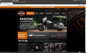 Harley-Davidson website homepage