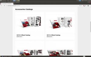 Honda webpage for motorcycle gears