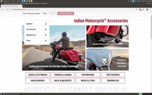 Indian website homepage
