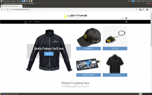 Lightning Motorcycles website product page