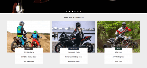 MotoSport website motorcycle page