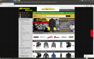 MotorcycleGear website motorcycle gear page