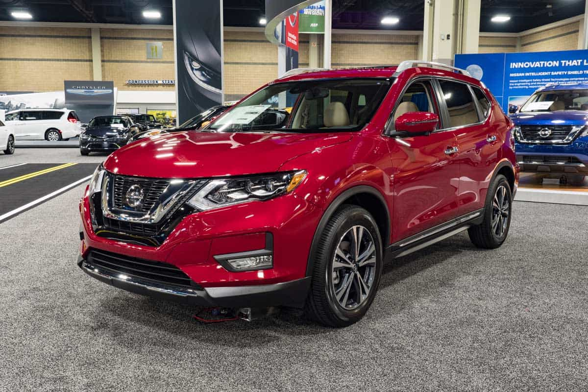 Nissan Rogue on display during the 2016 Charlotte International Auto Show