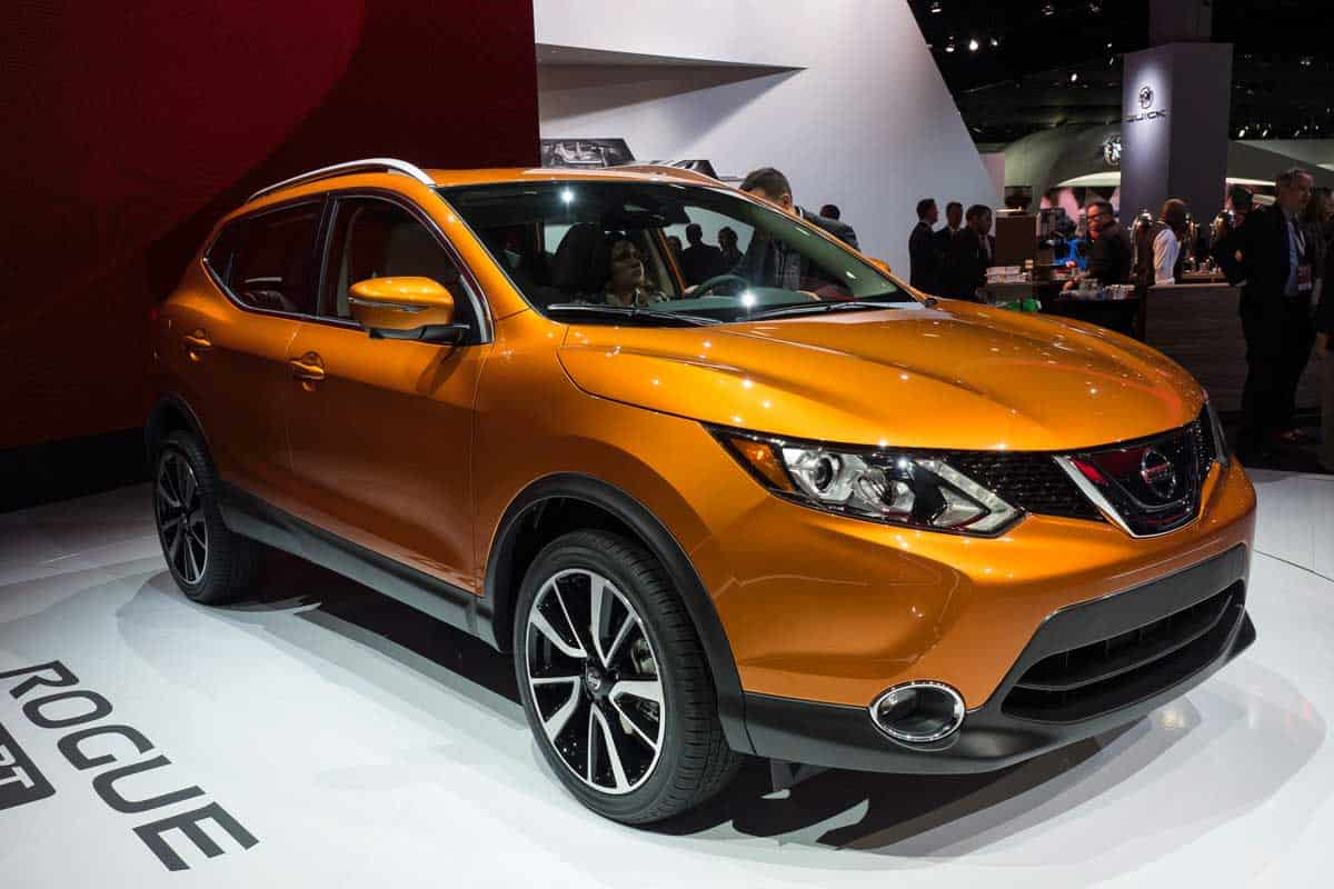 Nissan Rogue on display during the North American International Auto Show