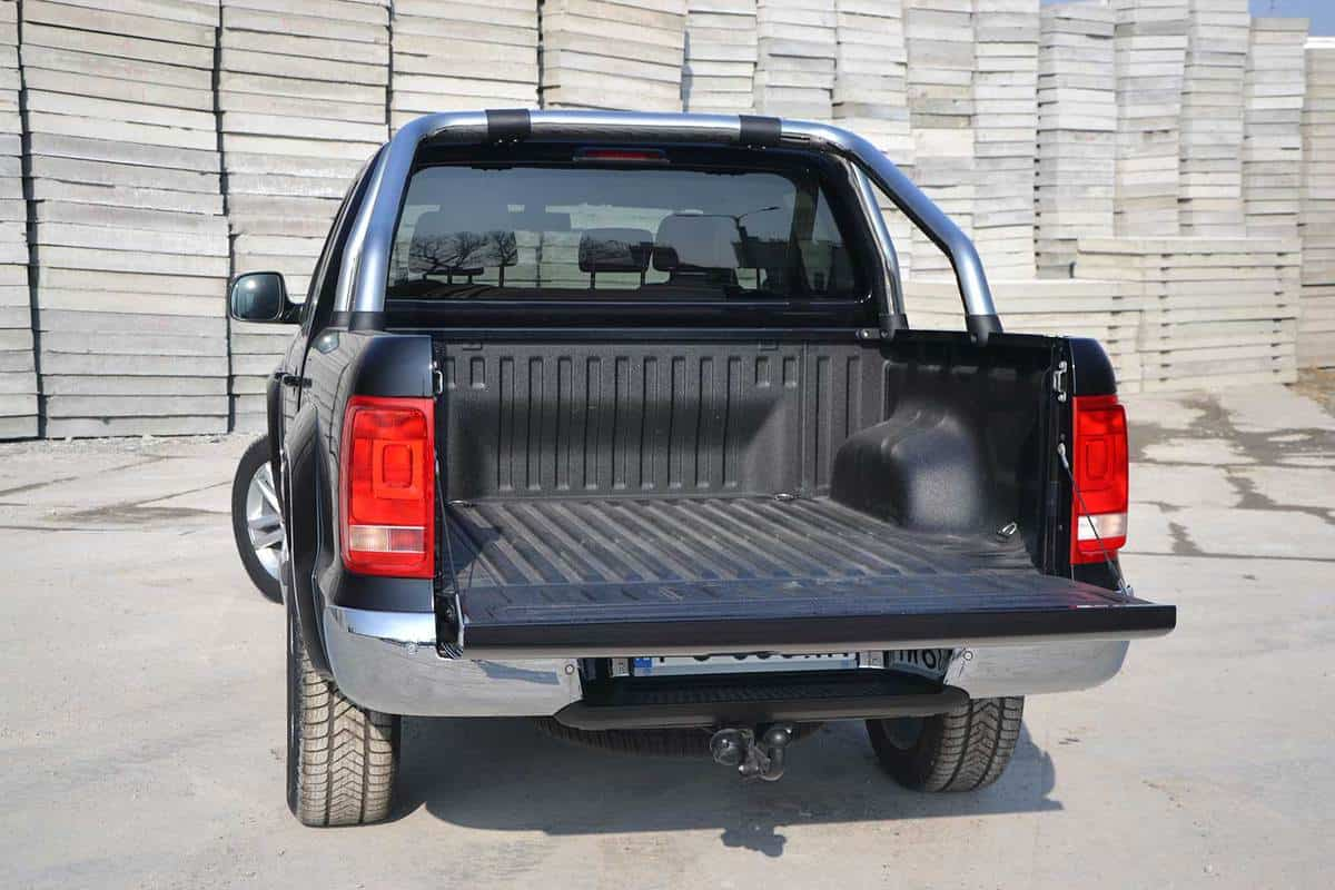 Pickup truck used for delivering goods for a business