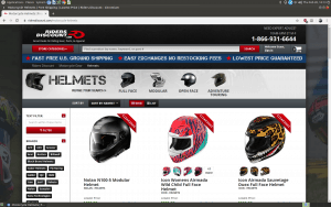 Riders Discount website motorcycle gears page
