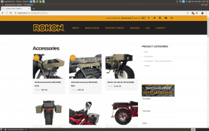 Rokon website part and accessories page