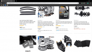 Amazon page for Honda parts