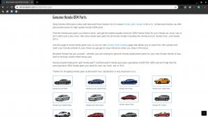 Bernardi Parts page for Honda parts