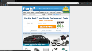 Parts Geek page for Honda parts