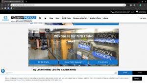 Carson Honda page for Honda parts