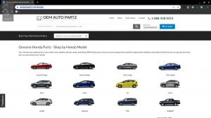 OEM Auto Parts page for Honda parts