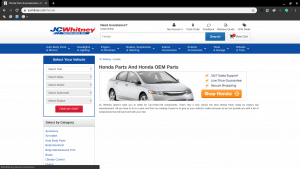 JC Whitney page for Honda parts