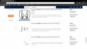 Walmart page for Honda parts