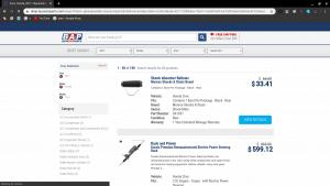 Buy Auto Parts page for Honda parts