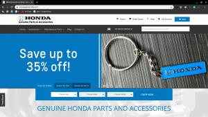 Honda Parts Online page for Honda parts