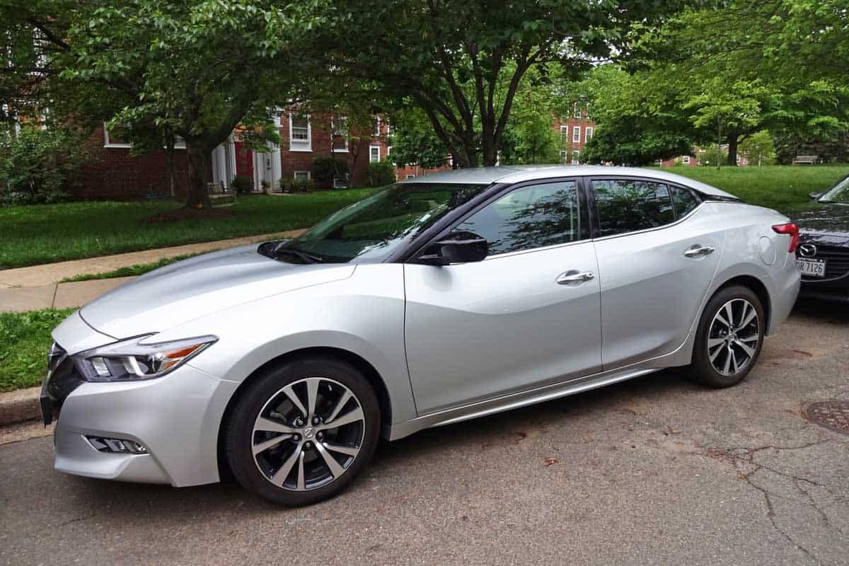 silver Nissan Maxima sport sedan was spotted in a quiet Northwest Washington DC neighborhood