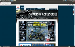 Suzuki Parts and accessories webpage