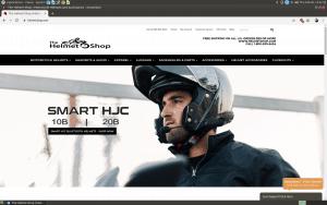 The Helmet Shop website page