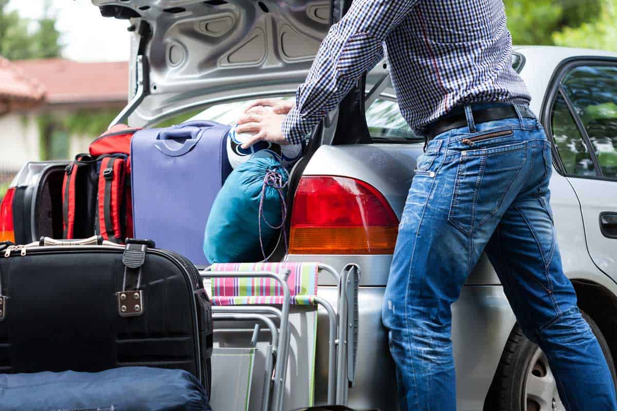 Too little car trunk for family luggage