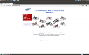 Whizzer website product page