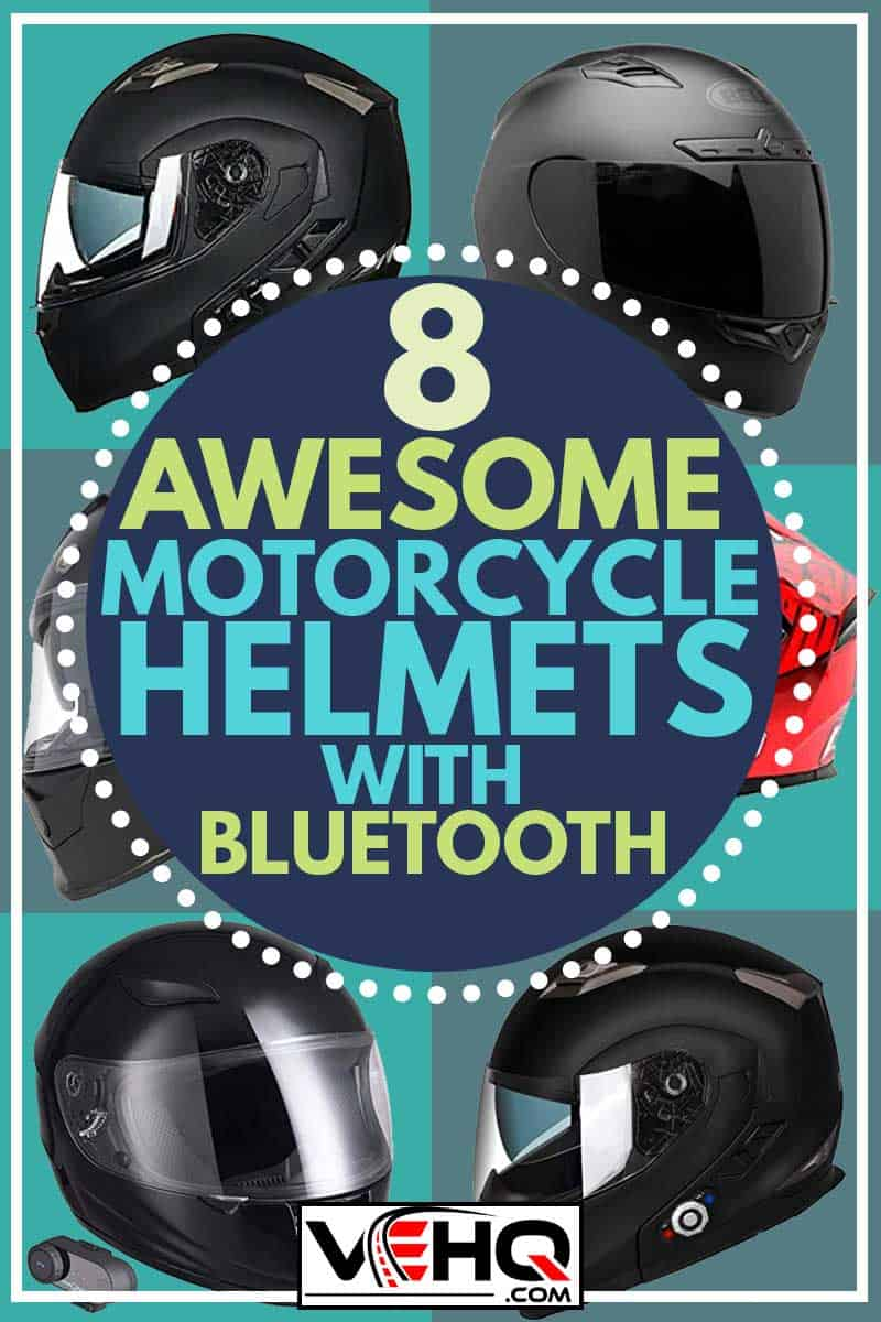 stunning collage of motorcycle helmets with bluetooth, 8 Awesome Motorcycle Helmets With Bluetooth
