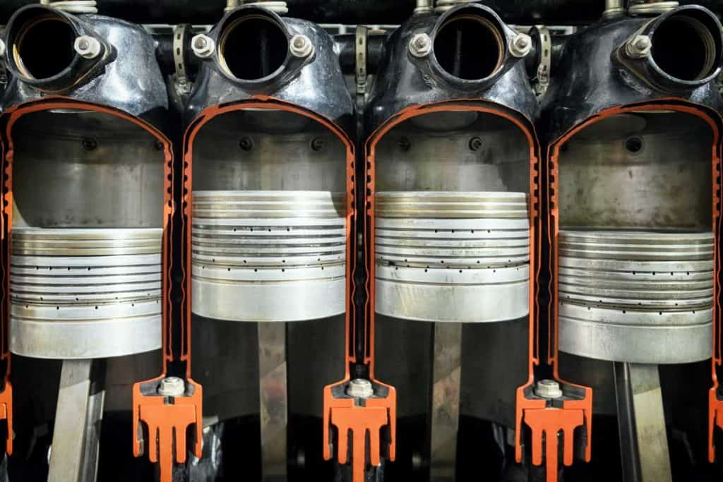 A four cylinder engine