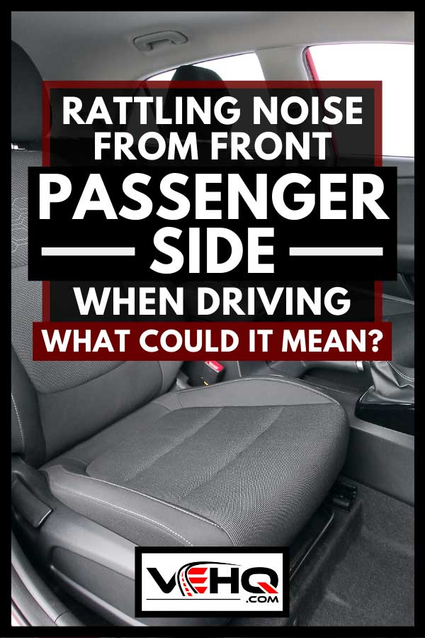 Front seats of a red modern passenger car, Rattling Noise From Front Passenger Side When Driving - What Could It Mean?