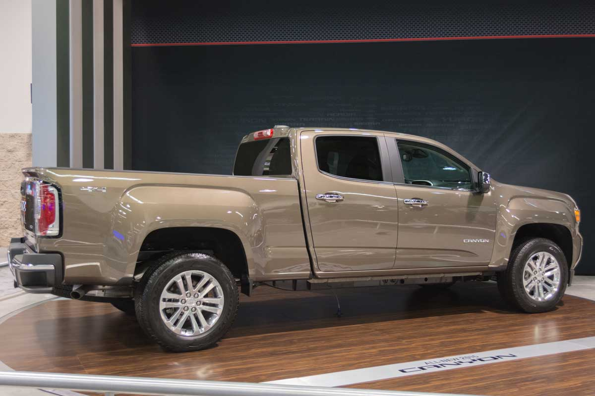GMC Canyon at the Orange County International Auto Show in Anaheim, CA