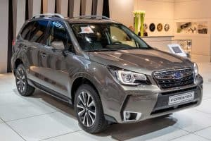 Grey Subaru Forester at car show, Where Are Subaru Cars Made?