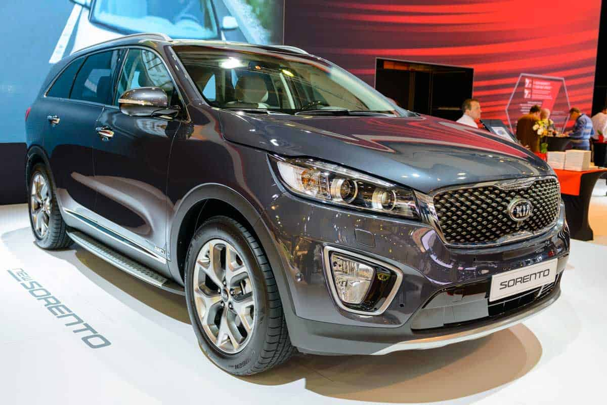 Kia Sorento crossover SUV on display during the 2015 Brussels motor show, Where are Kia cars made?