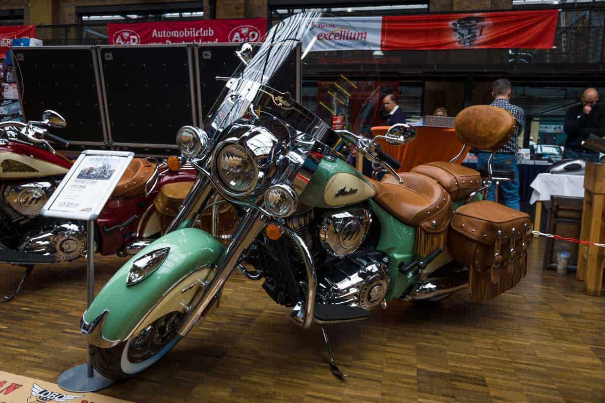 Motorcycle Indian Chief Classic (2014-present). 28th Berlin-Brandenburg Oldtimer Day