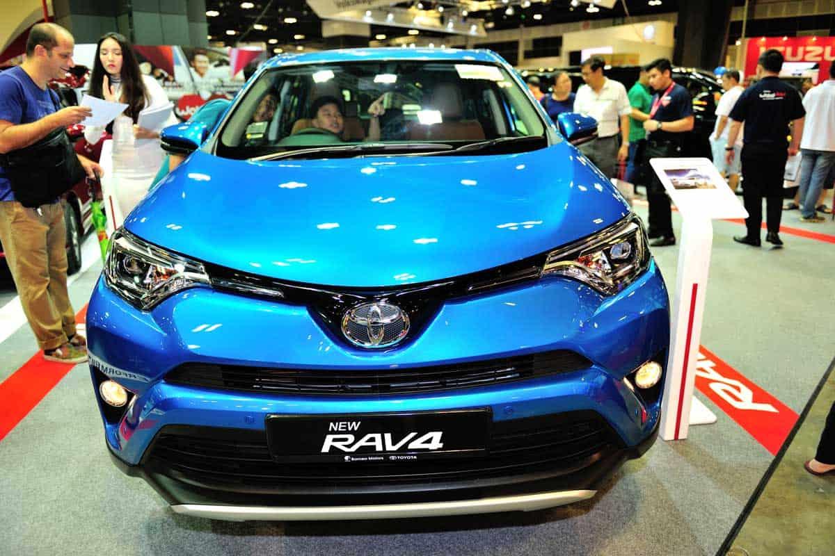 Toyota RAV4 display during motorshow