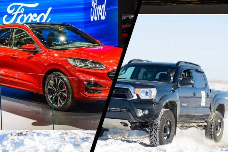 A collage of Toyota Tacoma, Toyota Corolla and Ford escape, What is a Passenger Car? [Inc. Examples]