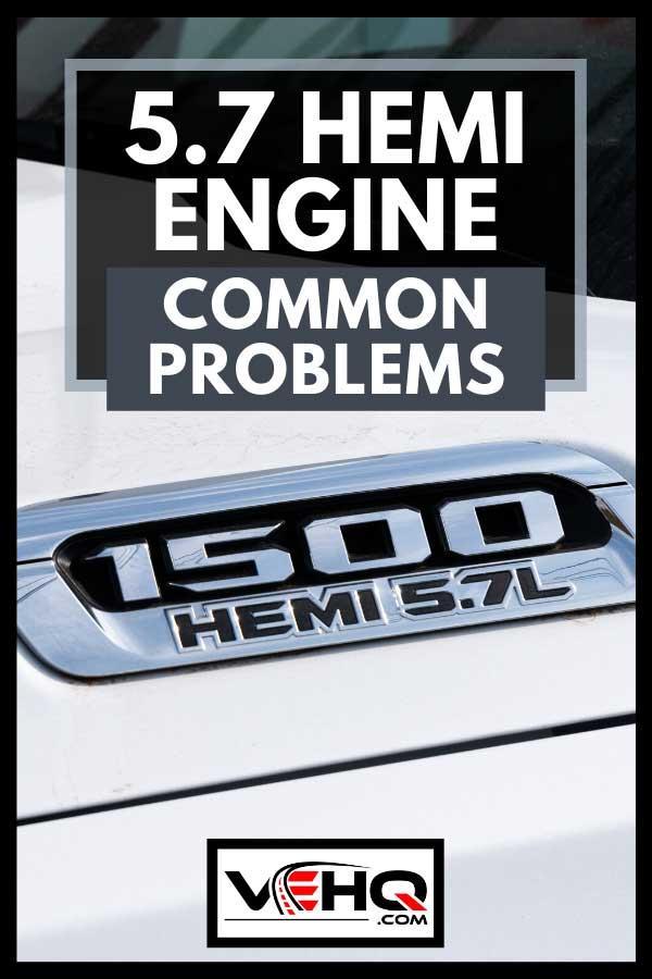 White Chrysler 5.7 Hemi Truck with trademark logo