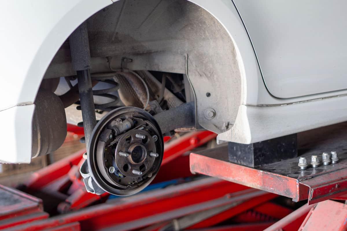 Car bearings under repair due to faulty car ball bearings