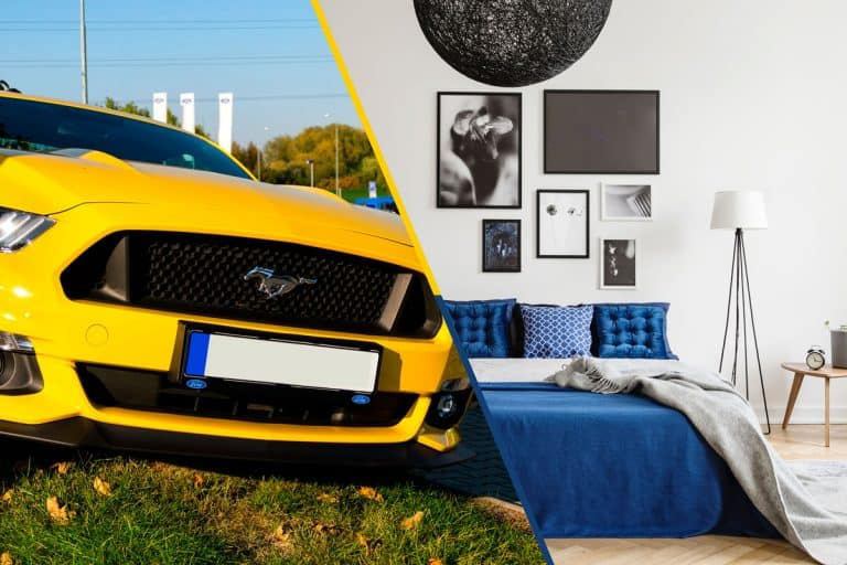 Ford Mustang and blanket on bed collage photo, 10 Ford Mustang Blankets That Fans Would LOVE