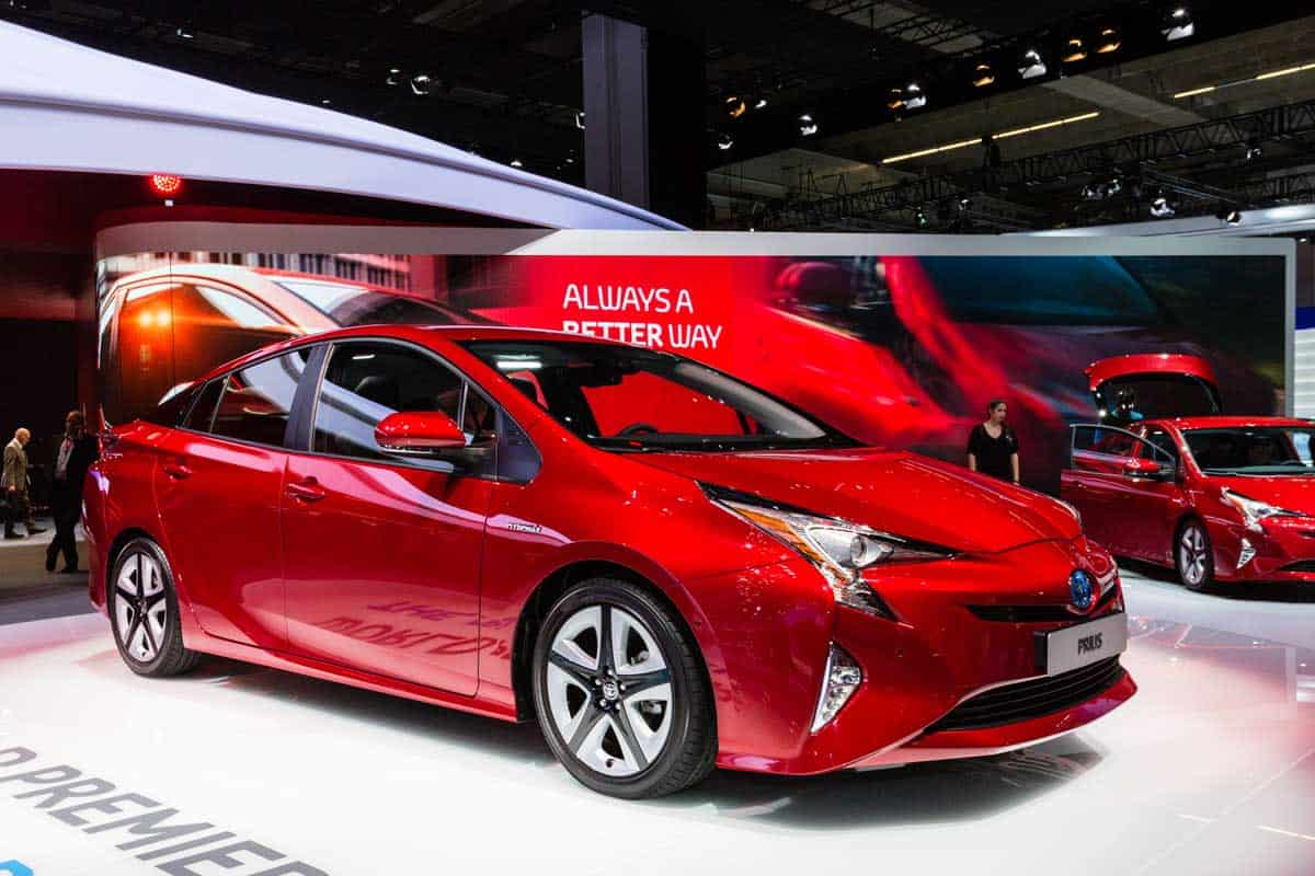 Toyota Prius presented on the 66th International Motor Show